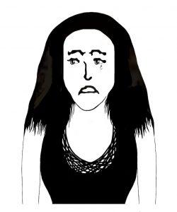 Sad Woman Crying A Tear