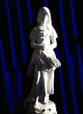 Humble Peasant Praying Statue