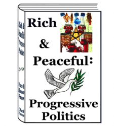 Rich & Peaceful: Progressive Politics Book Shop Cover