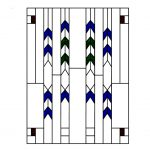 Frank Lloyd Wright-Style Staggered Arch Stained Glass 3