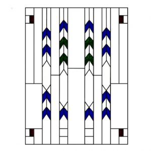 Frank Lloyd Wright Style Stained Glass 3