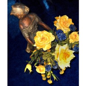 Antique Flower Girl 2 Art Greeting Card