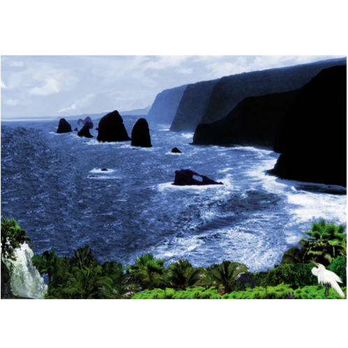 Mountainous Ocean Scene