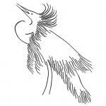 Snowy White Egret 2 Art Greeting Card