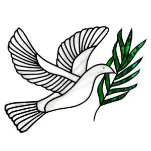 Stained Glass Dove of Peace Art Greeting Card