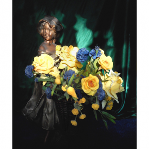 Antique Flower Girl Art Greeting Card