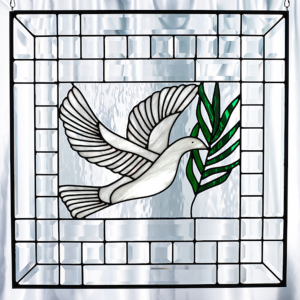 Beveled Dove Of Peace Stained Glass