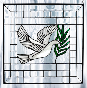 Bevel Stained Glass Dove of Peace