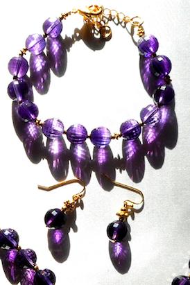 Amethyst Bracelet & Earrings