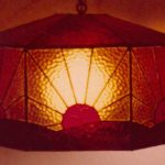 Sunrise Stained Glass Lamp (Brown, Yellow, & Red)